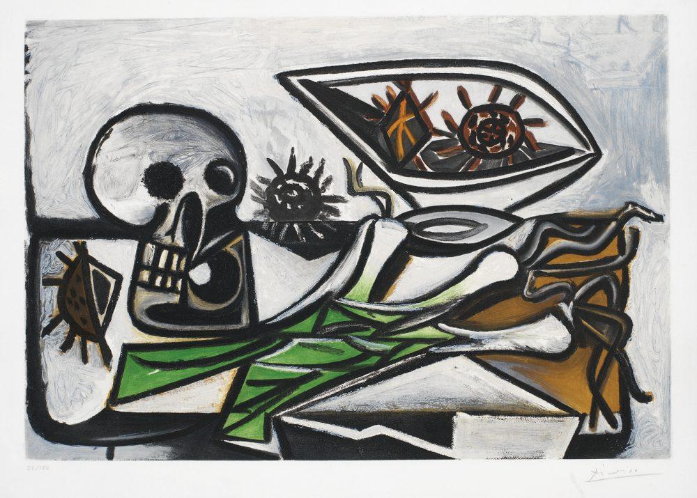 Nature Morte au Crane Pablo Picasso after Park West Gallery