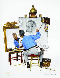 Triple Self Portrait, Norman Rockwell