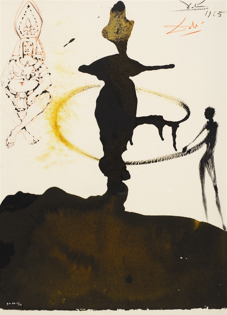 """Filiae Herodiadis saltatio"" (The Sance of Herodias' Daughter, 1964). Lithograph from Salvador Dali's Biblia Sacra series."