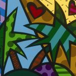 Romero Britto, Paradise Tondo, Park West Gallery