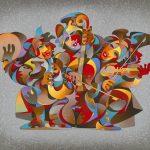 Anatole Krasnyansky, Street Quartet, Park West Gallery Fine Art Collection
