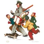 Jolly Postman by Norman Rockwell, Park West Gallery