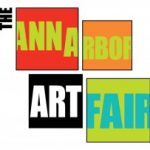 the ann arbor art fair logo, park west gallery
