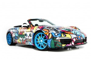 Romero Britto Porsche 911 Cabriolet at Art Basel Miami Beach