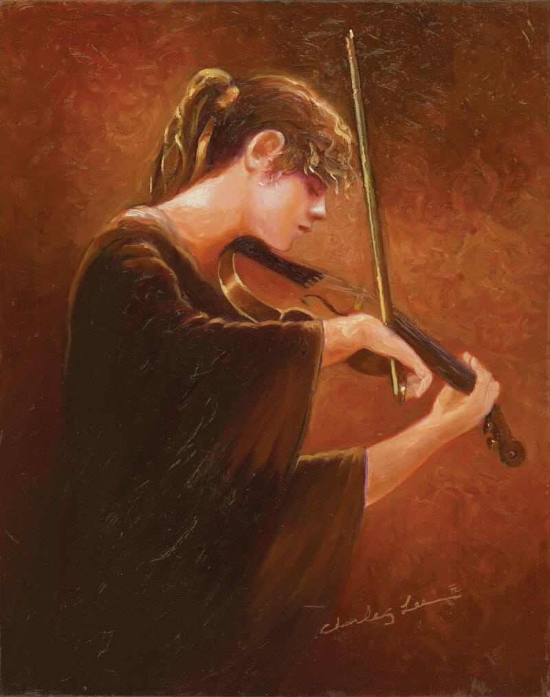 """Charles Lee. """"Autumn Music I"""" (2012). Park West Gallery Collection."""