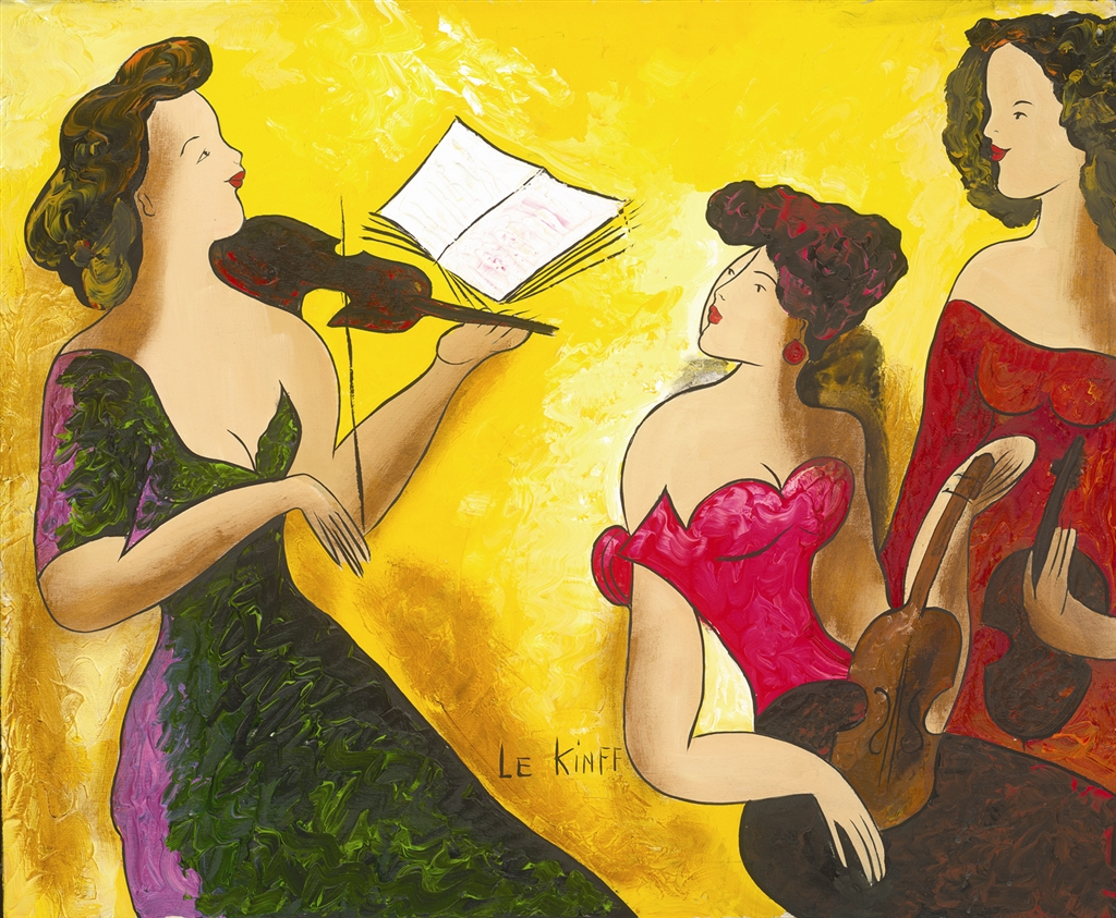 """Playing the Violin II"" (2006), Linda Le Kinff"