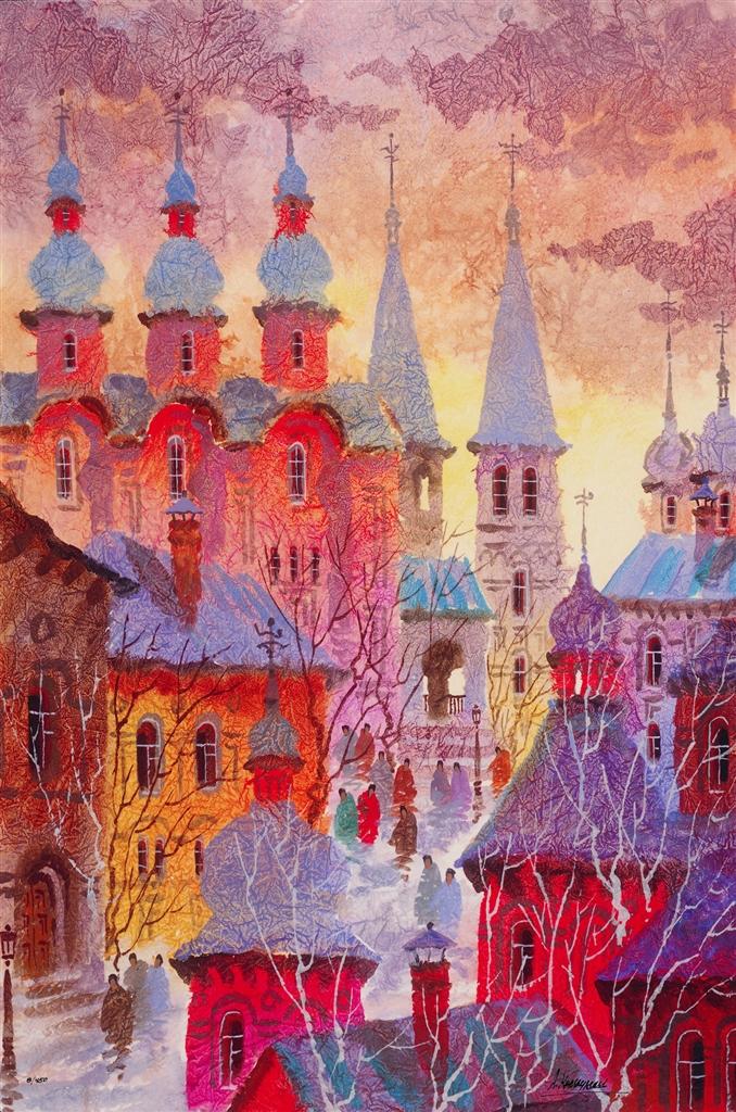 """Old Monastery, Near Moscow"" (2016), Anatole Krasnyansky"