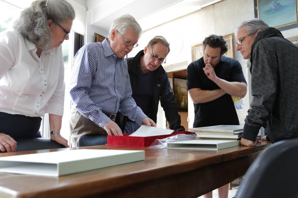 Dominique de Serres, Bernard Louedin, Albert Scaglione, Marc Scaglione and Stephane Guilbaud
