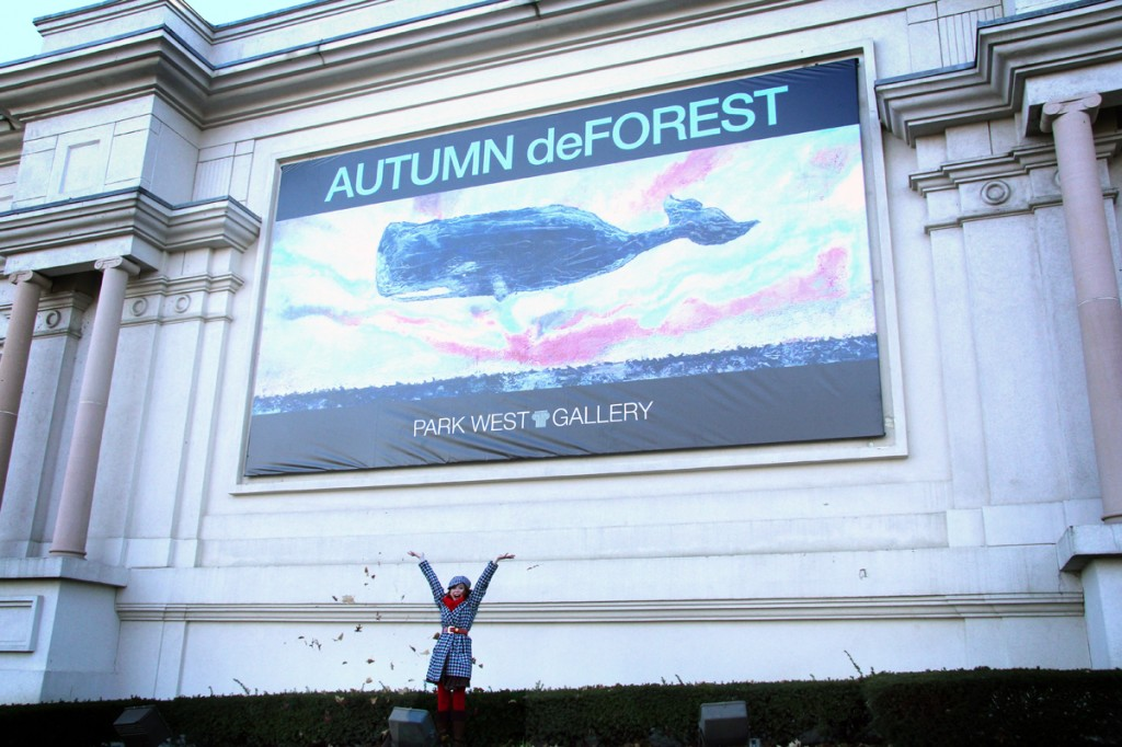 Autumn in front of Gallery