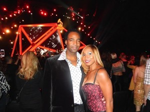 Park West Gallery Artist Marcus Glenn with wife Yolanda at Grammy Awards' event