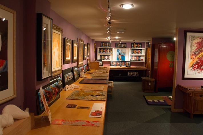 Dominic Pangborn's expansive Detroit studio.