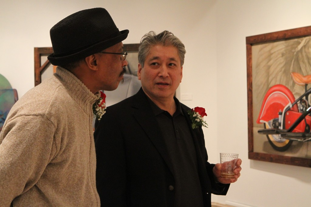 MI Great Artist 2013 winner Henry Heading and runner-up Kim Fujiwara.