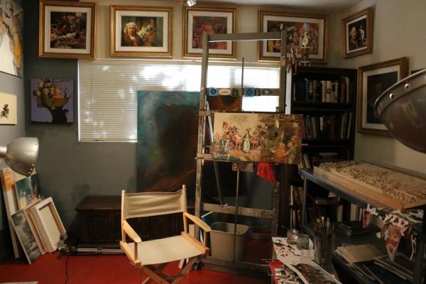 Charles Bragg's studio - Park West gallery
