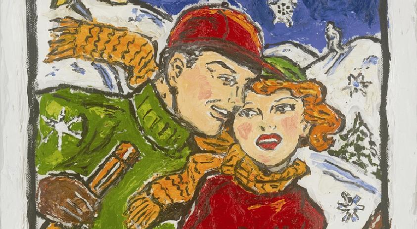 "Detail from ""Winter Wonderland"" (2009) by Leslie Lew"