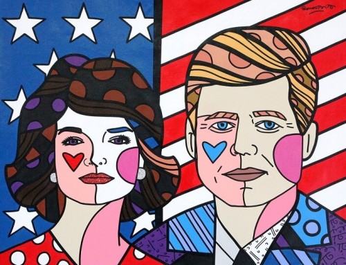 """The American Dream"" by Romero Britto. Photo courtesy of Montblanc."