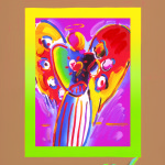 Peter Max Angel with Heart on Blends