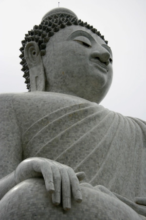 The 45-meter-tall Big Buddha made from marble. Photo credit: enjosmith