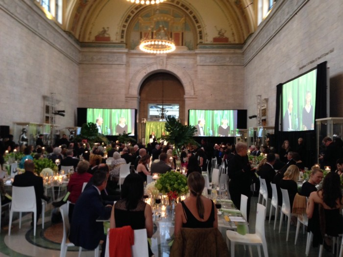 Physicians, artists, and sponsors enjoy a black-tie dinner at the Detroit Institute of Arts. Photo credit: Jason Keech