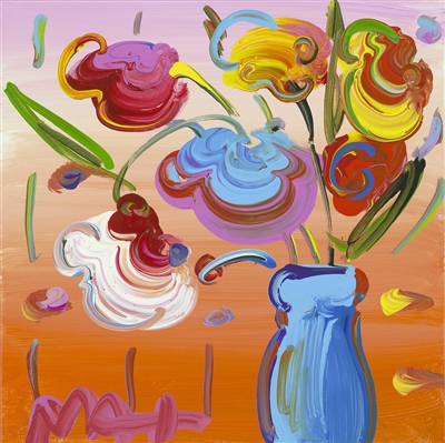 """Vase of Flowers Series 60 Detail Ver. VI #281"" (2016), Peter Max"