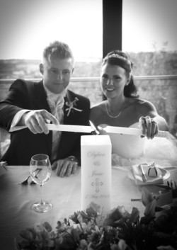 Dylan and Jane on their special day on May 4, 2013 in Magaliesburg, South Africa.
