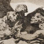 "Detail from ""Se Repulen"" (They Spruce Themselves Up, c. 1799). Etching from Francisco Goya's ""Los Caprichos"" series."