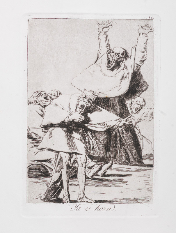 """It is Time"" (c. 1799). Etching from Francisco Goya's Los Caprichos series."