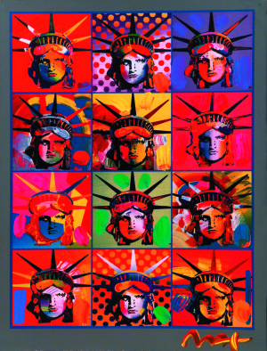 """""""Liberty and Justice for All"""" (2001), Peter Max"""