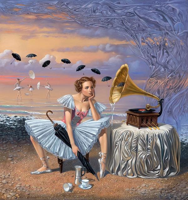 Michael Cheval dye sublimation absurd art
