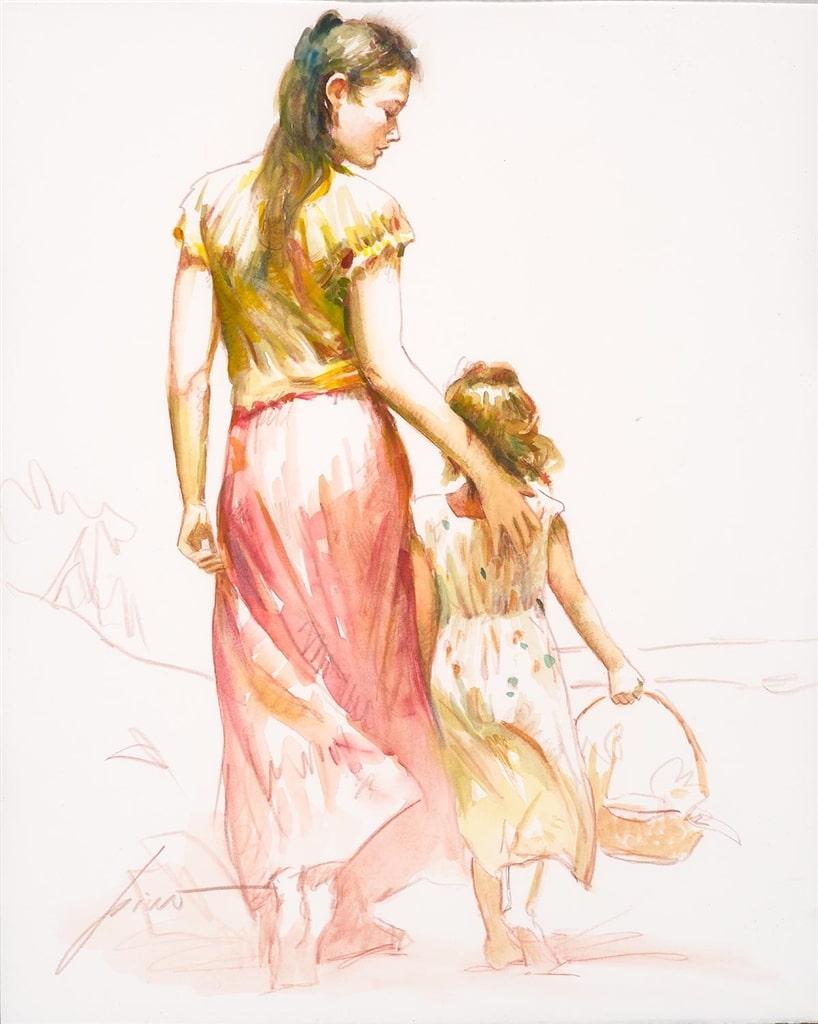 Original mixed-media drawing (2009), Pino