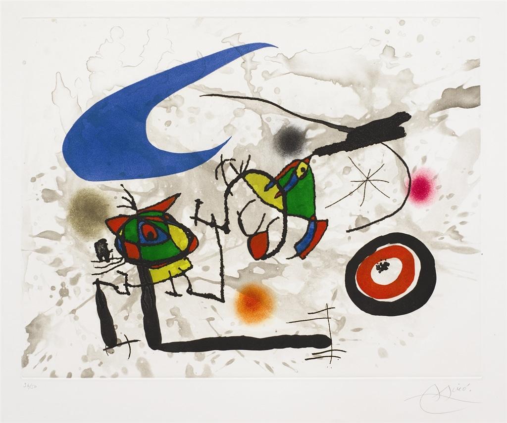 """""""Pygmies sous la Lune"""" (1972), Joan Miro"""