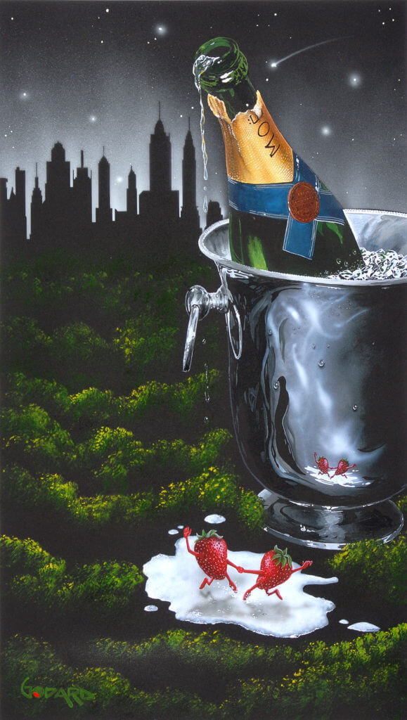 """Strawberry City Dance"" (2016) Michael Godard"