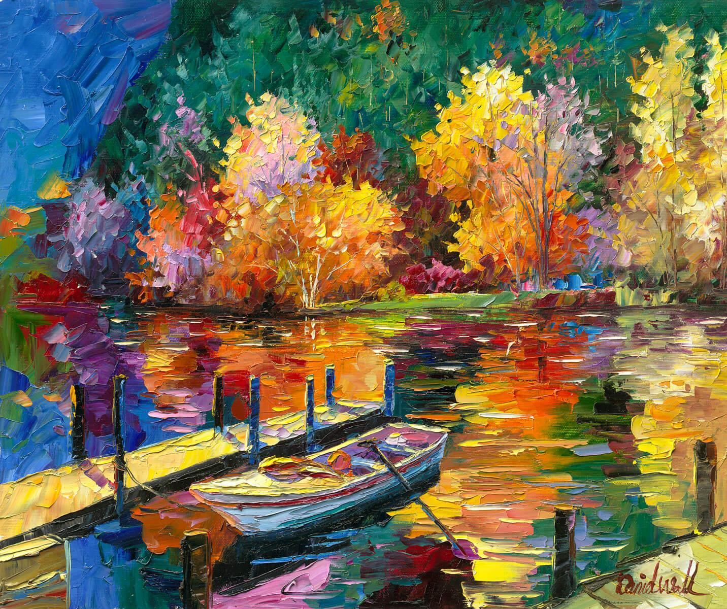 """Autumn Lake"" (2016) Daniel Wall"
