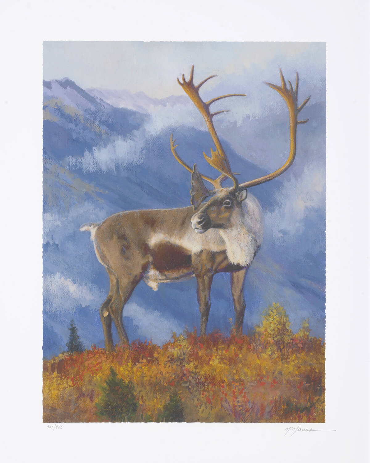 """""""Caribou in Denali"""" (2015) Pat McManus"""