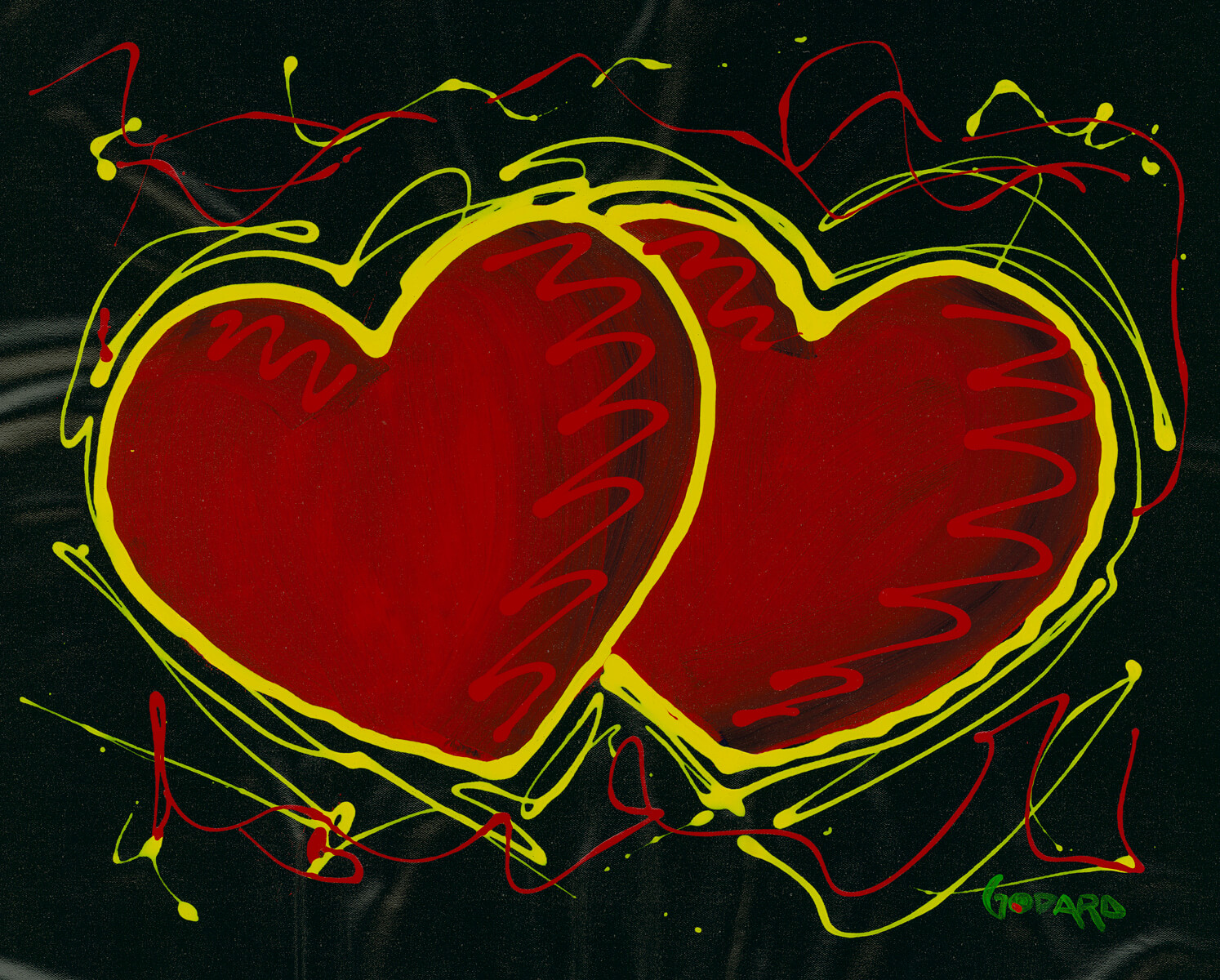 """Hearts for Hope"" (2016) Michael Godard"