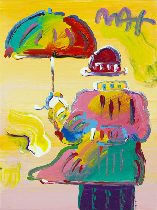 Peter Max Umbrella Man Peter Max
