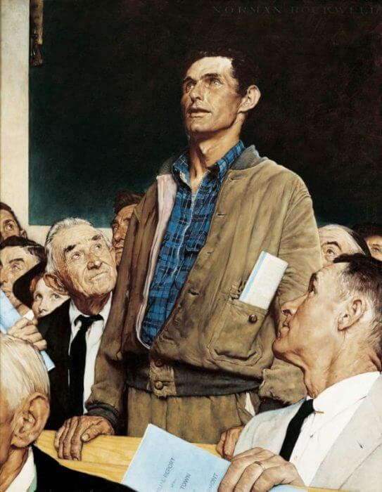 Freedom of Speech Norman Rockwell Park West Gallery, The Four Freedoms