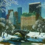 Central Park Winter Alexander Chen Park West Gallery