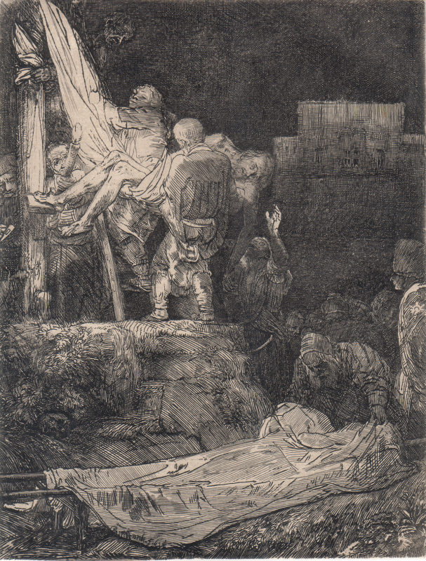 Rembrandt van Rijn Descent from Cross: By Torchlight Park West Gallery