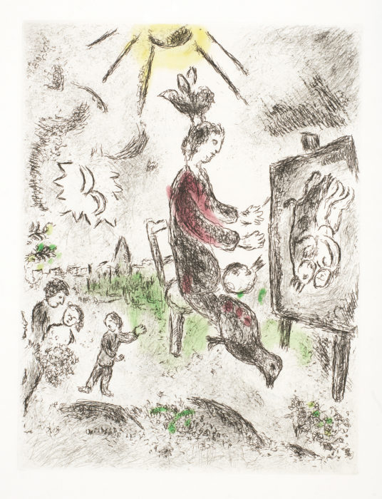 Celui qui dit les choses sans rien dire (Those who say things without saying) 1975-76 Cr. 99 Marc Chagall Park West Gallery