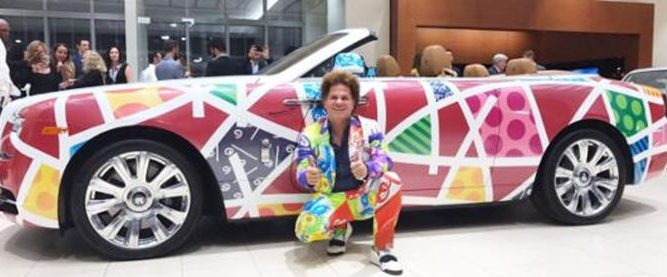 Romero Britto Rolls Royce Park West Gallery