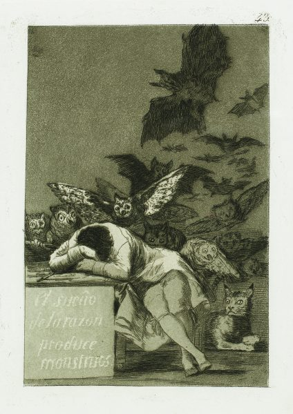 The sleep of reason produces monsters Francisco Goya Park West Gallery