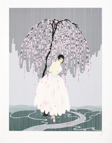 Blossom Umbrella Erte Park West Gallery