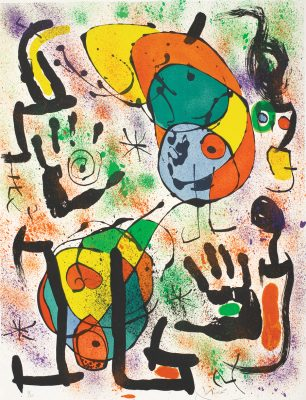 The Seers VI Joan Miro. M.666 Park West Gallery