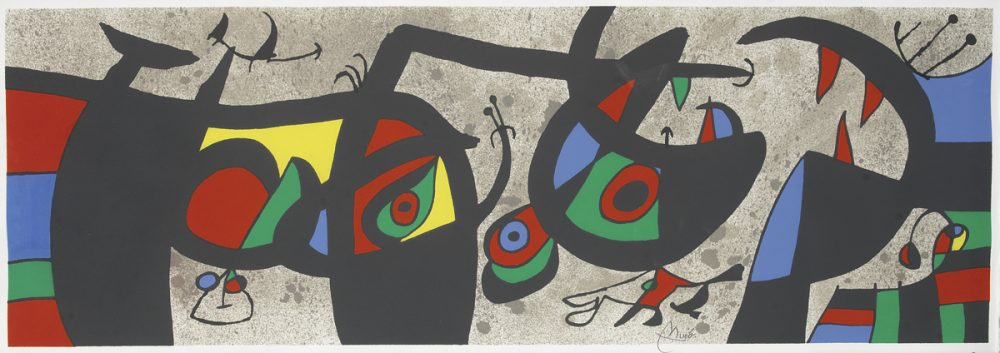 Le Lezard aux Plumes d'or II Joan Miro. M.793 Park West Gallery
