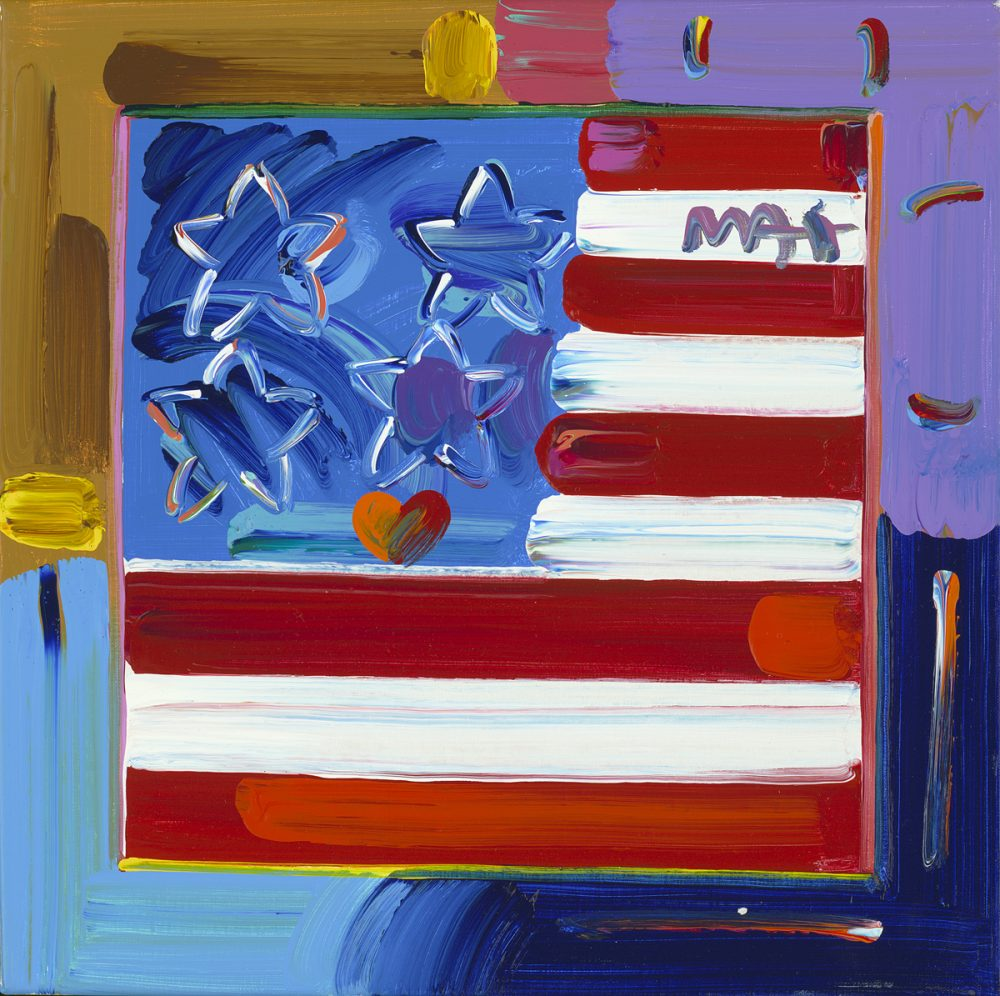 Flag with Heart Ver. XXVII Peter Max Park West Gallery