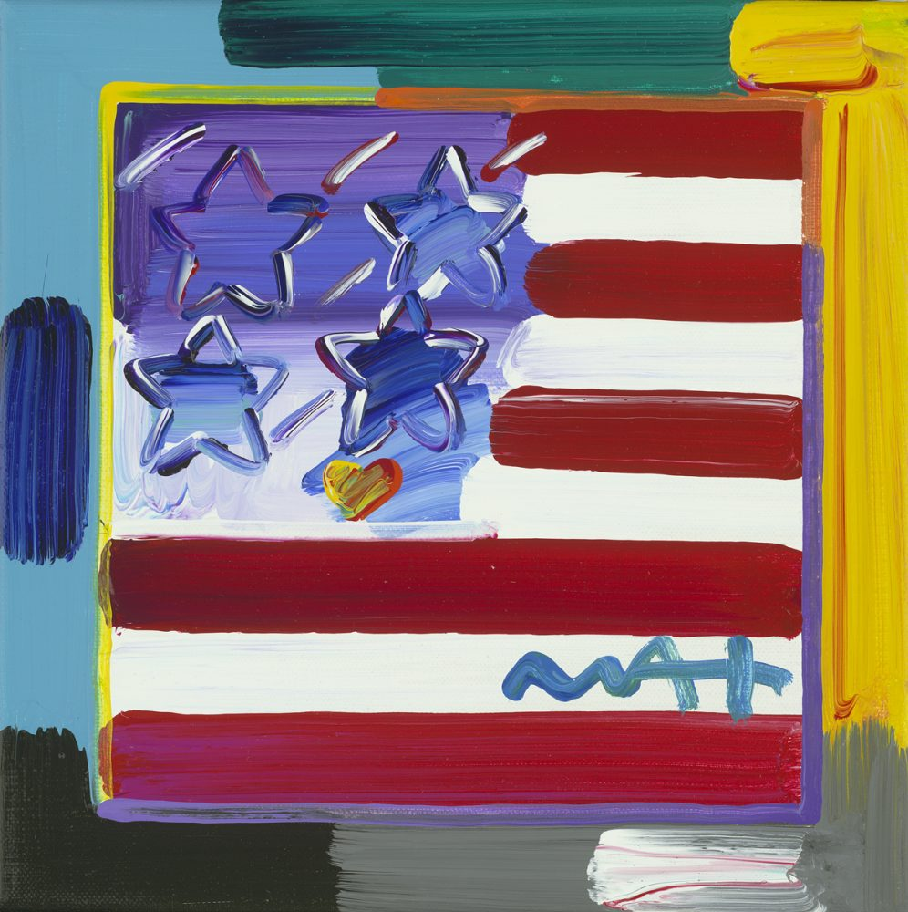 Flag with Heart Ver. XXIII Peter Max Park West Gallery