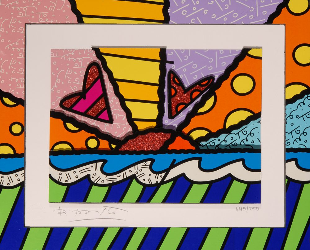 Romero Britto Heart Sunrise Park West Gallery