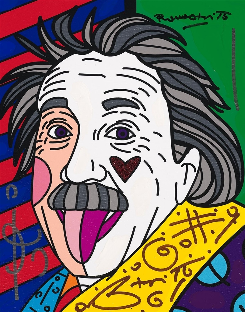 """""""Einstein New Love"""" (2017), Romero Britto"""