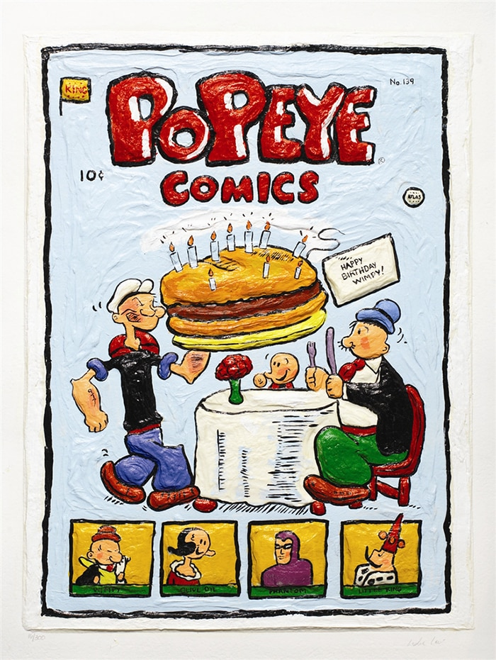 pop art popeye comics by leslie lew