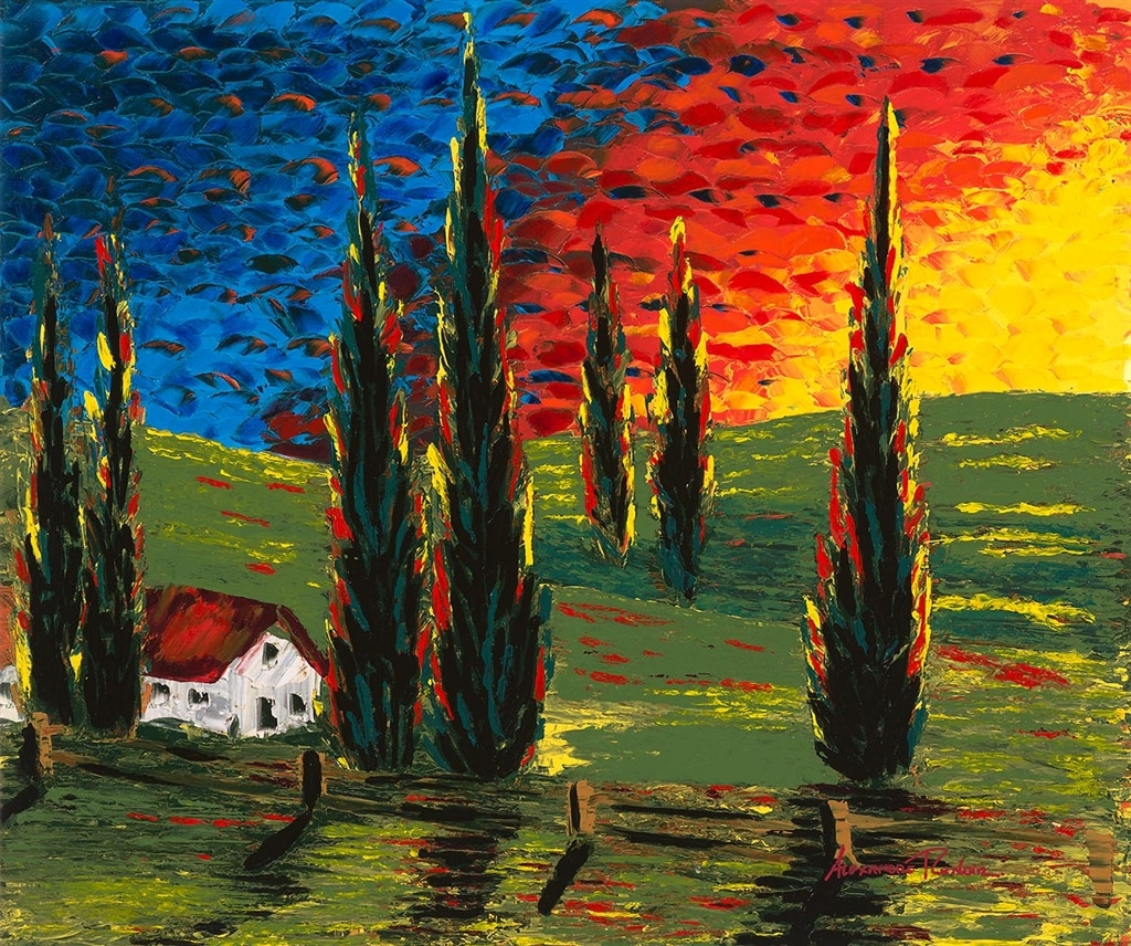 """Tuscan Sunset,"" Alexandre Renoir"